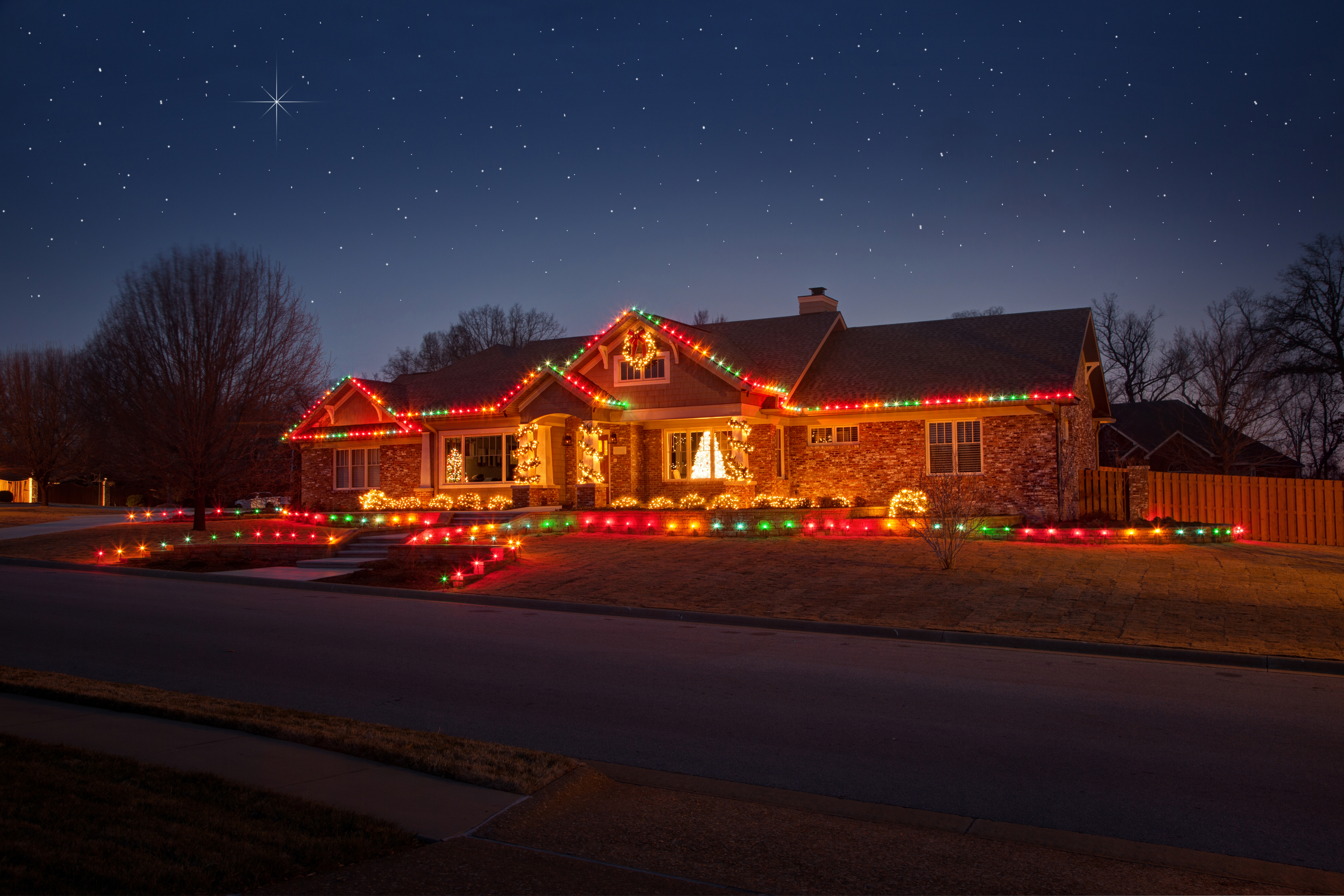 Christmas Landscape Lighting